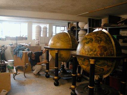 Coronelli Terrestrial 1688 & Celestial 1693 globes
