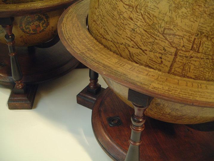 Mercatore Terrestrial 1541 Celestial 1551 globes